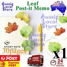 30 Sticky Notes POST-IT Memo Pad Exquisite Leaf it Leaves Note Message leaves
