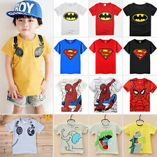 Kids Boys Girls Clothes Cosplay Superhero Spider Man /Batman/ T-shirts Tee Tops