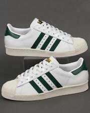 Adidas Originals - Adidas Superstar 80s Trainers in White & Green - shell toe
