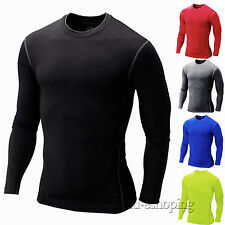 Men Compression Thermal Under Base Layer T-shirts Top Sports Long Sleeve Tights
