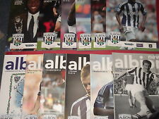 2012/13 WBA HOME PROGRAMMES CHOOSE FROM (WEST BROMWICH ALBION)
