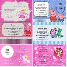 Personalised Party Invitations / Thank You Cards Peppa Pig George A6 + Envelopes