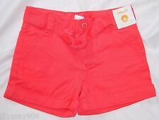 NWT Gymboree Burst of Spring 4 6 Shorts coral belt solid cuffed adjustable 4T