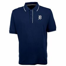 Detroit Tigers Antigua Embroidered Xtra-Lite Elite Navy Polo Golf Shirt