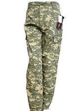 NEW ACU PANTS OLIVE GREEN DIGITAL UNIVERSAL CAMOUFLAGE - POLY RIP STOP - S, M, L