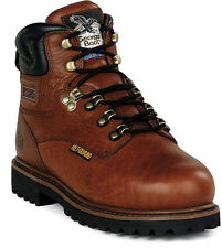 Georgia Mens Briar Brown Leather MetGuard Steel Toe Work Boots