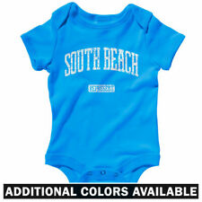 South Beach Represent One Piece - Baby Infant Creeper Romper NB-24M - Gift Miami