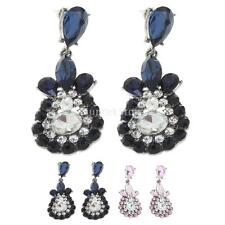 Women Jewelry Fashion Ear Stud Ethnic Style Crystal Rhinestone Dangle Earrings