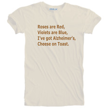 New Humorous Funny Alzheimer's Cheese on Toast T-shirt Sizes S - 5XL Plus Size