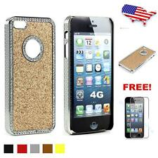 Bling Crystal Rhinestone Deluxe Chrome Hard Case Skin Cover for Apple iPhone 4