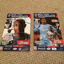 """BOLTON WANDERERS FC HOME MATCH PROGRAMMES  """" BUY 1 GET 1 FREE """""""