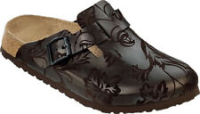 Papillio by Birkenstock Boston Leather $179rp Silk Flowers Mocca SOFT FOOTBED 37