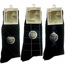 New  5 Pairs Mens Cotton Socks Foot Sport Socks  w Patten Cotton Rich Size 7-11