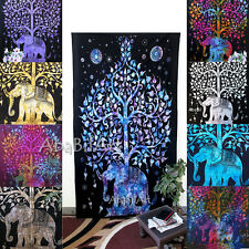 Psychedelic Small Elephant Tapestry Tree of Life Wall Hanging Throw Ethnic Throw