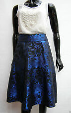 MARKS & SPENCER BLUE / BLACK FLORAL JACQUARD SKIRT RRP £49.50 SIZES 12,14