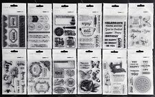 Kaisercraft Unmounted Acrylic Clear Stamp ~ 12 Design Options Kaiser Card Scrap