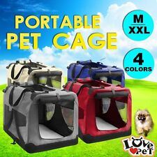 Pet Soft Crate Portable Dog Cat Carrier Travel Cage Kennel Foldable Collapsible
