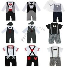 Newborn Baby Boys Romper Jumpsuit Clothes T-shirt Hooded Tops Pants Outfits Set