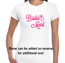 LADIES HEN DO *NIGHT* PARTY * PERSONALISED  T SHIRT* BRIDESMAID