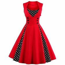 Women  Dress Retro 2017 Vintage 50s 60s Rockabilly Dot Swing Summer female Dress