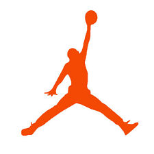 Orange Jumpman Vinyl label Stickers Basketball Party Favors Balloons Cup Plates