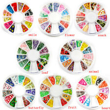 Fimo Acrylic Nail Art Decoration Tips 120PC Multicolors Slice Manicure Wheel Hot