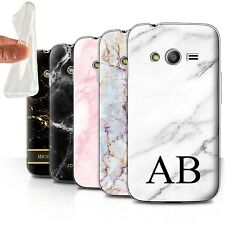 Personalised Marble Gel/TPU Case for Samsung Galaxy Ace 4 Neo/G318/Initial Cover