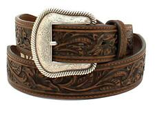 Nocona Mens Brown Leather Scalloped Rawhide Concho Western Belt N2497702