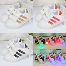 Boys Girls LED Light up Casual Shoes Luminous Kids Children Flat Sneakers Sports