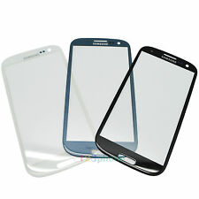 BLACK BLUE WHITE OUTER GLASS LENS FOR SAMSUNG GALAXY S3 SIII i9300 i747