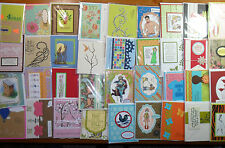 40 Handmade Cards Lot - 40 cards, mixed occasions- Stampin'Up!, PTI, more