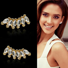 ALL Fashion Women Lady Girls Elegant Crystal Rhinestone Ear Stud Earrings 1 Pair