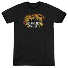 CHARLIES ANGELS FIRE Licensed Men's Ringer Graphic Tee Shirt SM-3XL