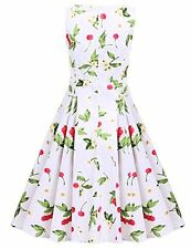 ACEVOG Women Vintage 1950's Floral Rockabilly Party Picnic Dress Cocktail