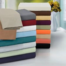 Bed Sheets Set Flat & Fitted Sheets Pillowcases Soft Microfiber Linens Bedding