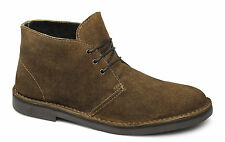 Mens Suede Leather Lace-Up Ankle DesertLucini Boots Teal Grey/Tan/Sand/Black 6