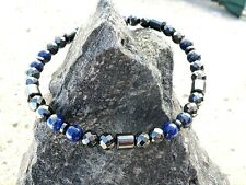 Men's Woman's Lapis Necklace Anklet Bracelet Magnetic Hmatite w Magnetic Clasp