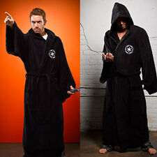 Star Wars Darth Vader Imperial Logo Sith Fleece Black Bath Robe Bathrobe Cosplay