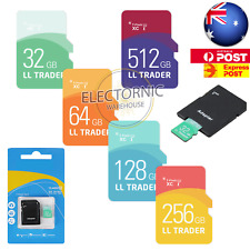 32/64/128/256/512GB Micro SD Memory Card TF w/Adapter Class10 SDHC SDXC 80Mb/s