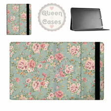 Pastel Floral Wallpaper Flip Folio Case - fits iPad Air Mini Samsung Galaxy