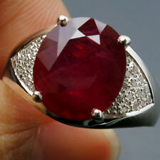 CHARMING@@@TOP BLOOD RED RUBY SAPPHIRE REAL 925 STERLING SILVER RING