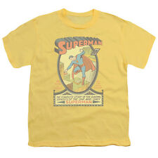DC Comics Superman #1 Comic  Issue Cover Yellow Youth T-Shirt - (Small)