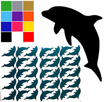 Dolphin Tile Stickers x 35 Glitter Colours Available Dolphin Wall Stickers Decal