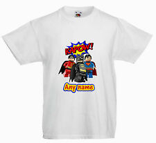 PERSONALISED CHILDRENS  KIDS T SHIRT*ANY NAME * LEGO BATMAN MOVIE