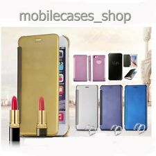 HOT Luxury Flip Mirror Metal Case Glossy View Cover For iphone