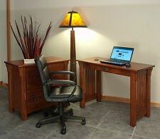 Home Office Computer Desk Solid Oak Mission Style #143