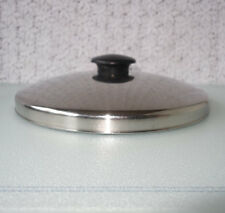 Vintage 10 3/8 inch Domed stainless steel cooking Lid with black Bakelite handle