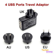 2.1A 4 Port Wall USB Charger Multi Portable Travel Plug Power Adapter iPhone