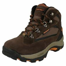 Boys Brown Lace Up Hi-Tec Walking Boots Kruger