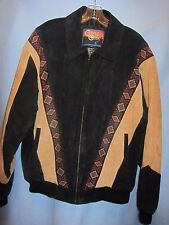 Cripple Creek Suede Leather jacket with Navajo Western print size XL Rodeo